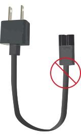 Recalled power cord – no sleeve