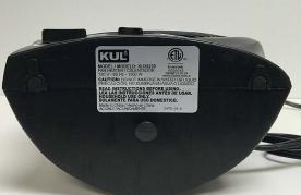 KUL Fan Heater Model Label