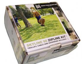 BYA Skyline 90-ft backyard zipline kit