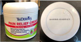 TriDerma Recalls Pain Relief Cream Due to Failure to Meet Child Resistant Closure Requirement; Risk of Poisoning (Recall Alert)