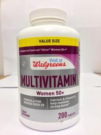"""Well at Walgreens"" multivitamin Women 50+ tablets"
