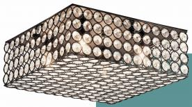 Kichler Krystal Ice ceiling fixture (square bronze finish)