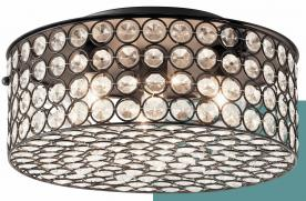 Kichler Krystal Ice ceiling fixture (cylindrical bronze finish)