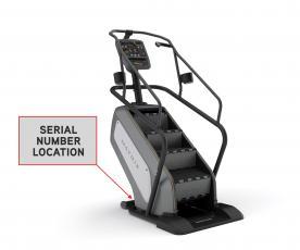 Johnson Health Tech ClimbMills serial number location
