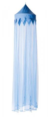 Blue pointed canopy top with blue mesh fabric