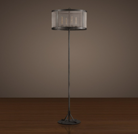 Recalled RH riveted mesh floor lamp