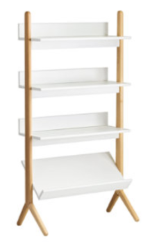 Recalled Danish White and Natural Tall Bookcase (SKU 325982)