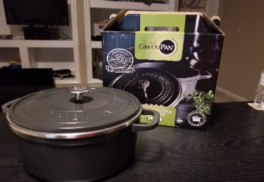 Recalled Double Greenpan SimmerLite Dutch Oven with Lid