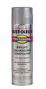 Recalled can of professional galvanizing bright compound spray