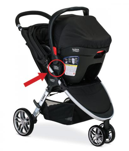 Britax-B-Agile stroller (in travel system mode)