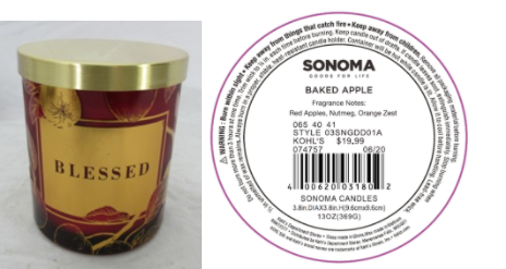 Recalled Kohl's Blessed Candle