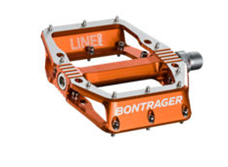 Bontrager Line Pro flat bicycle pedal (orange)