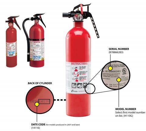 Kidde plastic handle fire extinguishers