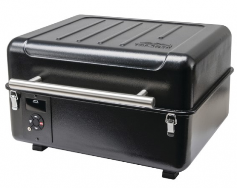 The recalled Traeger Ranger portable grill with the lid closed.