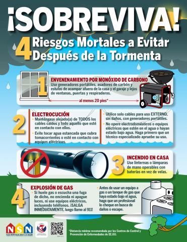 4 riesgos mortales a evitar despues de la tormenta