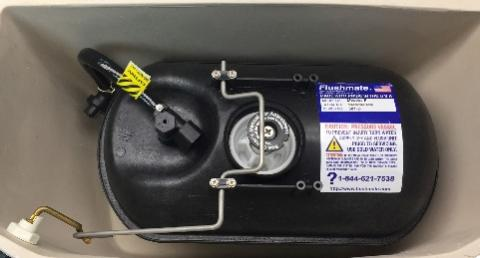 Location of label with model and serial numbers