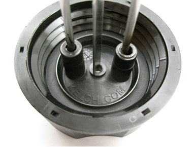 The recalled fuel tank caps have KELCH stamped into the bottom of the cap