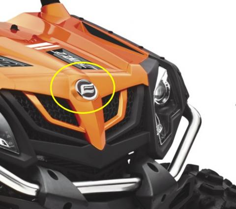 CFMOTO logo is located in the center of the front grille