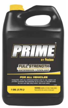 Recalled PRIME Antifreeze AMAM