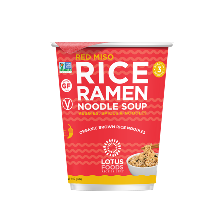 Recalled Lotus Foods red miso rice ramen noodle soup cup