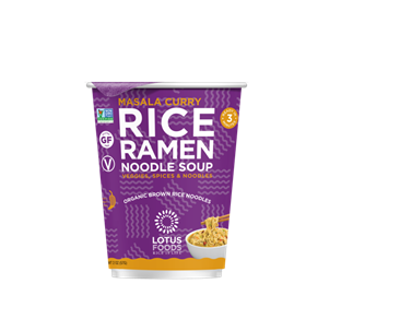Recalled Lotus Foods masala curry rice ramen noodle soup cup