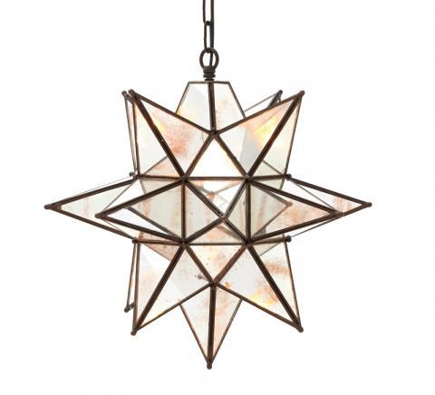 Oversized Morovian Star Pendant