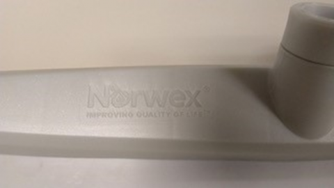 "Recalled rubber brooms have ""Norwex"" printed on the brush head"