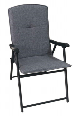 Recalled Folding Padded Patio Chair --Gray (Item #9044998)