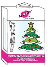Cargador de baterías con forma de árbol navideño