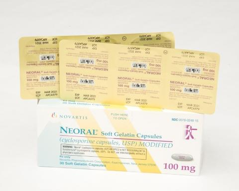 Recalled Neoral® 100 mg soft gelatin capsules