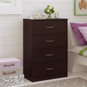 Ameriwood Mainstays chest of drawers in black forest- 5412012WP, 5412012PCOM, 5412026PCOM