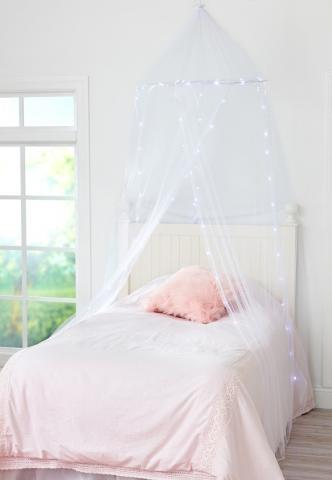 Recalled Justice Light Up Bed Canopy set (white) & Tween Brands Recalls Light Up Bed Canopies Due to Fire and Burn ...