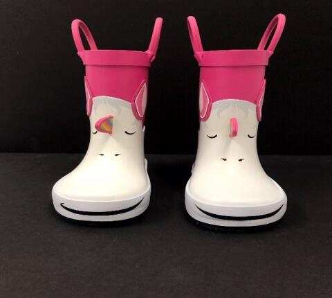 "Photo of the front view of the recalled Cat & Jack ""Lilia"" Rain Boots"