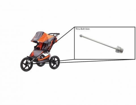 Britax BOB modified thru-bolt axle for use with BOB jogging stroller