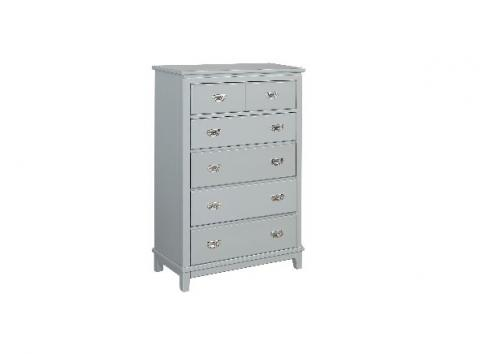 Recalled chests in dove gray
