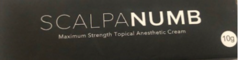 Recalled Scalpa Numb Maximum Strength Topical Anesthestic Cream - Package Front