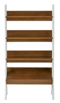 Recalled Danish Walnut and White Tall Bookcase (SKU 325943)