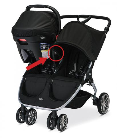 Britax B-Agile double stroller (in travel system mode)