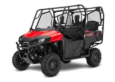 2017 Honda Pioneer 700-4 side-by-side (Red)