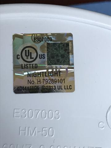 Nightlight UL Label