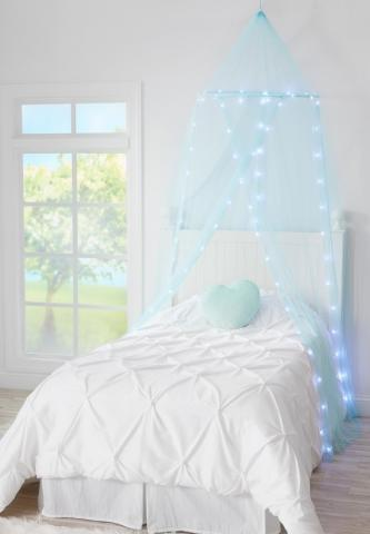 Recalled Justice Light Up Bed Canopy set (blue)