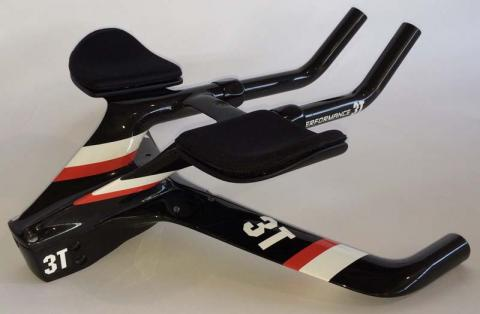 Recalled Aduro handlebars showing the base bar with forward extensions in the high-mount position.