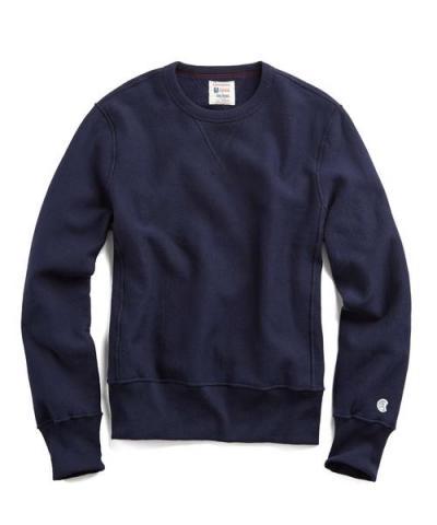Recalled men's Todd Snyder + Champion sweatshirt in Midnight Navy
