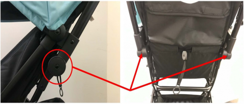 Recalled Tango Mini Stroller hinge joints may release and collapse under excess pressure.