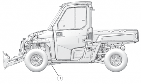 Location of VIN number on recalled utility vehicles