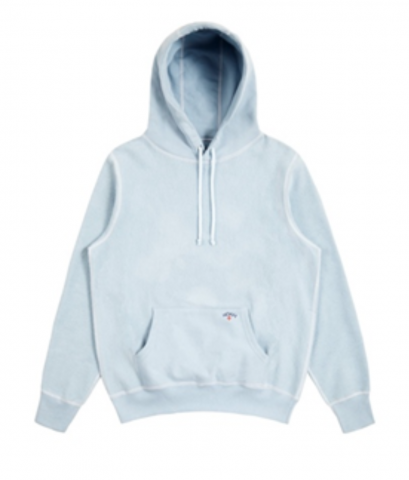 Recalled Noah Reverse Fleece Hoodies in Light Blue