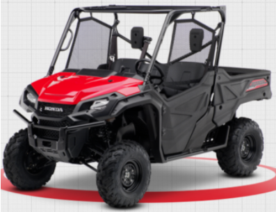 Recalled 2019-2020 Model Year Honda Pioneer 1000 3 Passenger