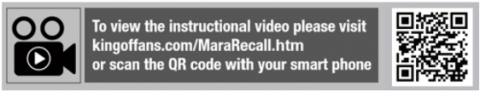 QR code for the recall instructional video