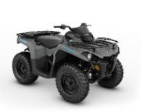 Recalled MY21 Can-Am Outlander DPS 450 Granite Gray-Octane Blue, also sold  in Camo and Tundra Green