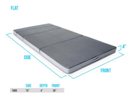 Recalled DownEast Mattress on the Go folding mattress – mattress setup